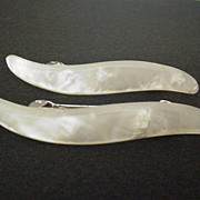 Pearlescent Celluloid Acetate Barrettes