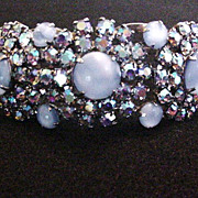 Juliana Blue Rhinestone Bracelet