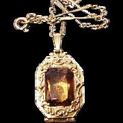 Goldette Victorian Revival Locket Necklace