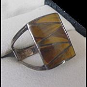 Sterling Silver Tiger's Eye Ring
