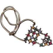 Leo Glass Rhinestone Necklace