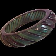 Emerald Green Lucite Bangle Bracelet