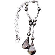 Glass Hematite Necklace