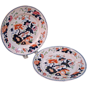 "Two Tonquin ""Stone China"" Plates ca. 1825"
