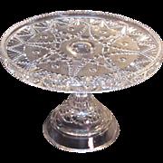 "Festoon Pattern Glass 9"" Cake Stand ca. 1890"