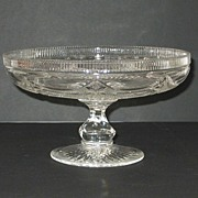 Cut Glass Compote