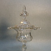 Large Dutch Cut Glass Covered Compote