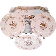 SALE Haviland Limoges Game Set circa 1885