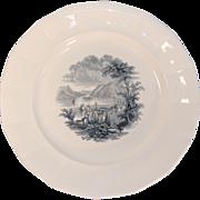 Hudson River Scene Plate ca. 1845