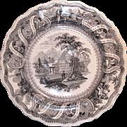 """Moral Maxims"" Transferware Plate ca. 1835"