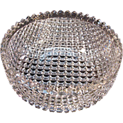 """Strawberry Diamond"" Cut Glass Bowl ca. 1900"