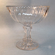 SALE Large Blown Glass Compote ca. 1865