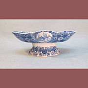 Pearlware Compote with Blue Transfer ca 1815