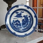 Pearlware Soup Plate Water Buffalo Pattern