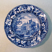"Staffordshire Soup Plate ""Thrybergh"" circa 1830"