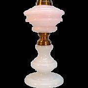 19th Century Opal Glass Oil Lamp