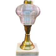 Oil Lamp Pear Font Marble Base ca. 1870