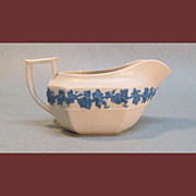Wedgwood Creamer with Blue Vine Decor, ca. 1835