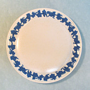 Wedgwood Stoneware Plate with Blue Relief Border