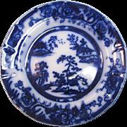 Hong Kong Pattern Flow Blue Plate