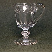 Footed Blown and Cut Flint Cup