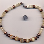 Vintage Banded Agate Necklace