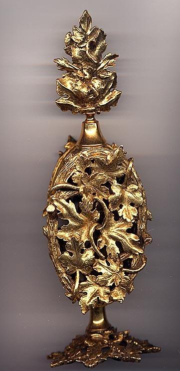 Large Signed StyleBuilt NY Gold Ormolu Perfume Bottle