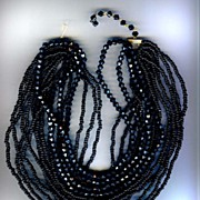 Multi Strand French Jet Necklace