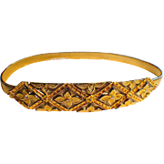 ACCESSOCRAFT NYC GOLD METAL STRETCH BELT