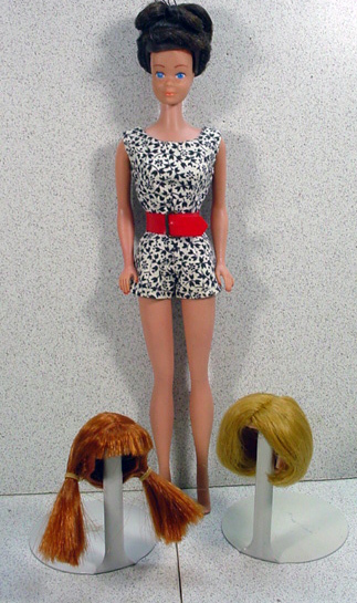 Mattel, Midge Doll and With Wig Wardrobe, 1965