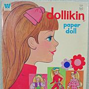 Vintage Un-Cut Dollikin Paper Doll's, Whitman, 1971