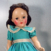 Ideal P-92 Toni Doll with Center Part Brunette Hair, 1949!
