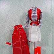 "Mattel Barbie Get-Ups 'N Go ""Red Shine for Rain Time"" 1977 Mint & Complete"