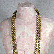 Vintage Miriam Haskell Double Strand Pendant Necklace, 1950's