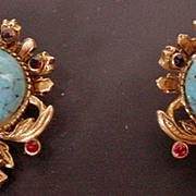 Vintage Florenza Clip On Earrings, 1960's
