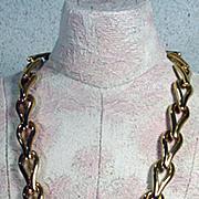 Monet 1970's Brushed Gold Tone Necklace!