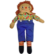 Vintage Johnny Gruelle Raggedy Andy Doll, 1940's!