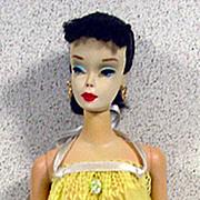 Mattel 1960 #3 Brunette Pony Tail Barbie Doll in Sweet Dreams