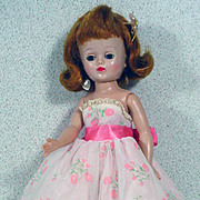 Vintage Vogue Jill Fashion Doll in Tagged Party Dress, 1950's