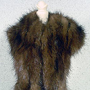"""Vintage Real Mink Stole for 11 1/2"""" Fashion Doll, 1960's"""