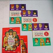Collection of Vintage Mattel Barbie Fashion Booklets, 1960's