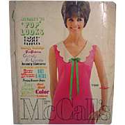 "SOLD Vintage McCall's 1965 ""Pop Looks"" Pattern Catalog"