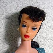 SOLD Vintage Mattel #5 Brunette Barbie Ponytail, 1961