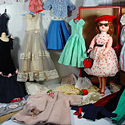 VIntage Madame Alexander Cissy Doll with Trunk and Wardrobe, 1950's