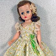 Vintage Madame Alexander Cissette Doll in Floral Day Dress, 1950's
