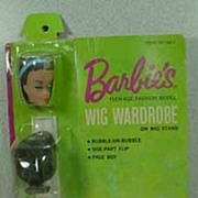 Mattel Mint On Card, 1963 Barbie Wig Wardrobe.