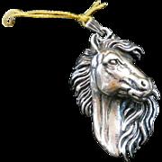 SALE Detailed Sterling Silver Figural Pendant