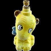 SALE Large Germany Figural Crown Top Perfume Bottle