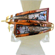 SALE Renoir/Matisse Signed By Pass Style Clamper Bracelet