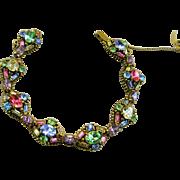 SALE Vintage Hollycraft Rhinestone Link Bracelet